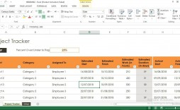 009 Top Project Tracker Excel Template Highest Quality  Sample Milestone Free