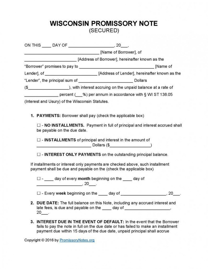 009 Top Template For Promissory Note Design  Free Personal Loan Uk868