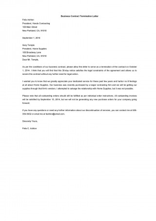 009 Top Template Letter To Terminate Rental Agreement Photo  End Tenancy For Landlord Ending320