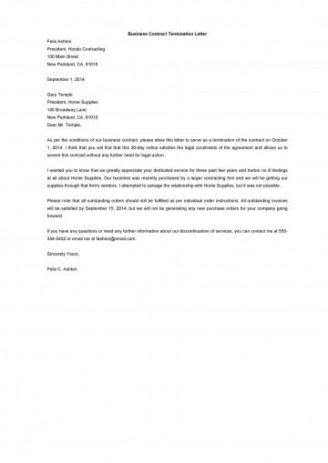 009 Top Template Letter To Terminate Rental Agreement Photo  End Tenancy For Landlord Ending360