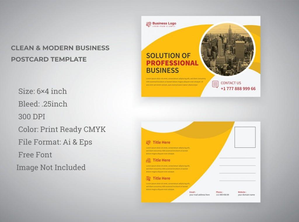 009 Unbelievable Busines Postcard Template Microsoft Word Concept Large