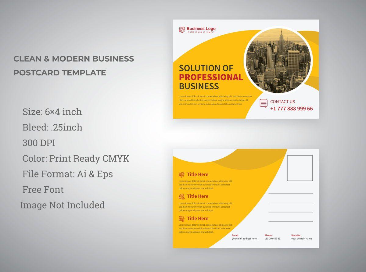 009 Unbelievable Busines Postcard Template Microsoft Word Concept Full