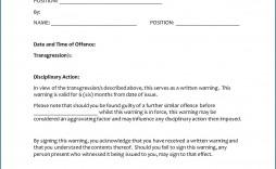 009 Unbelievable Employee Written Warning Template High Definition  Free Pdf Example