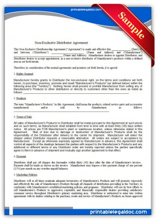 009 Unbelievable Exclusive Distribution Agreement Template Free High Definition  Australia320