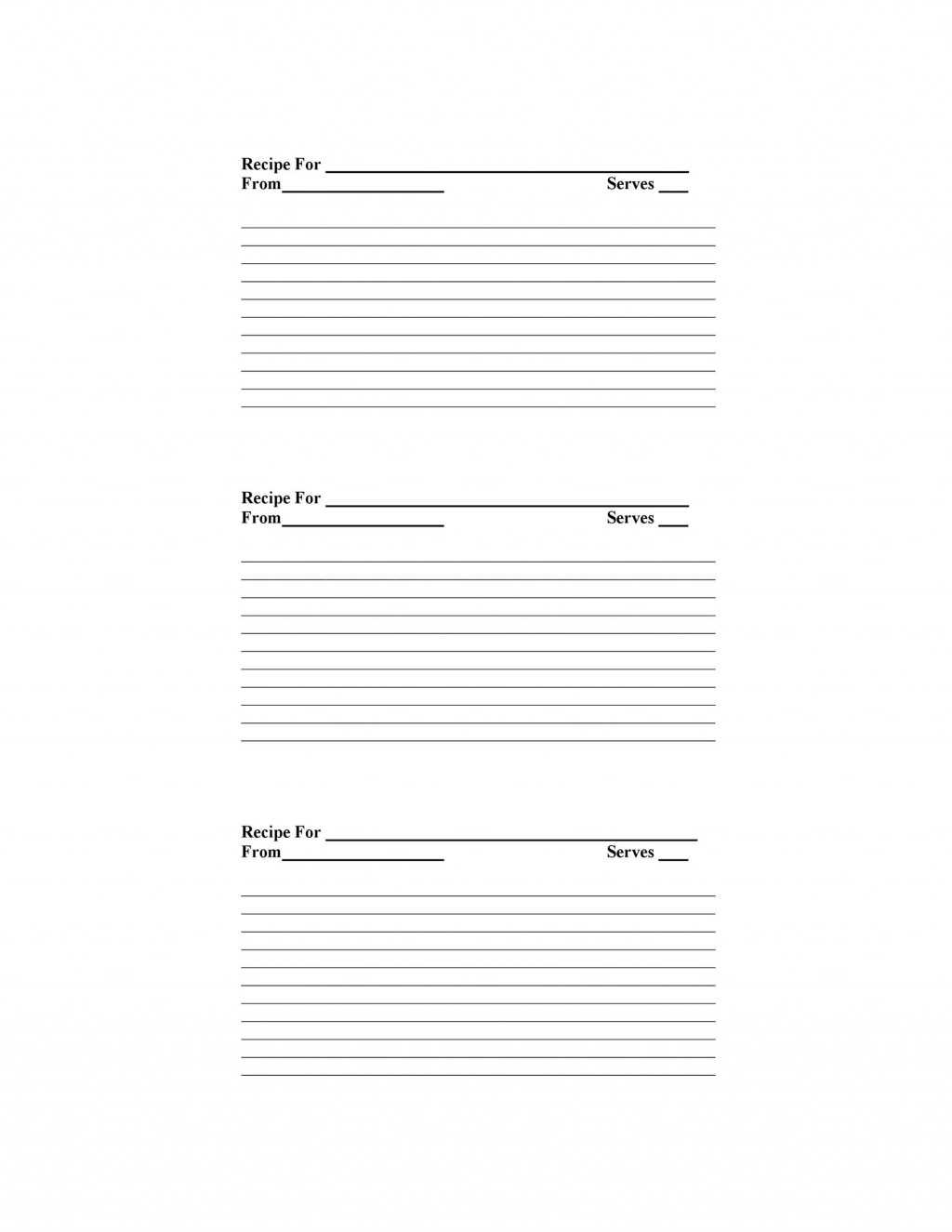 009 Unbelievable Free Recipe Template For Word High Def  Editable Page BookLarge