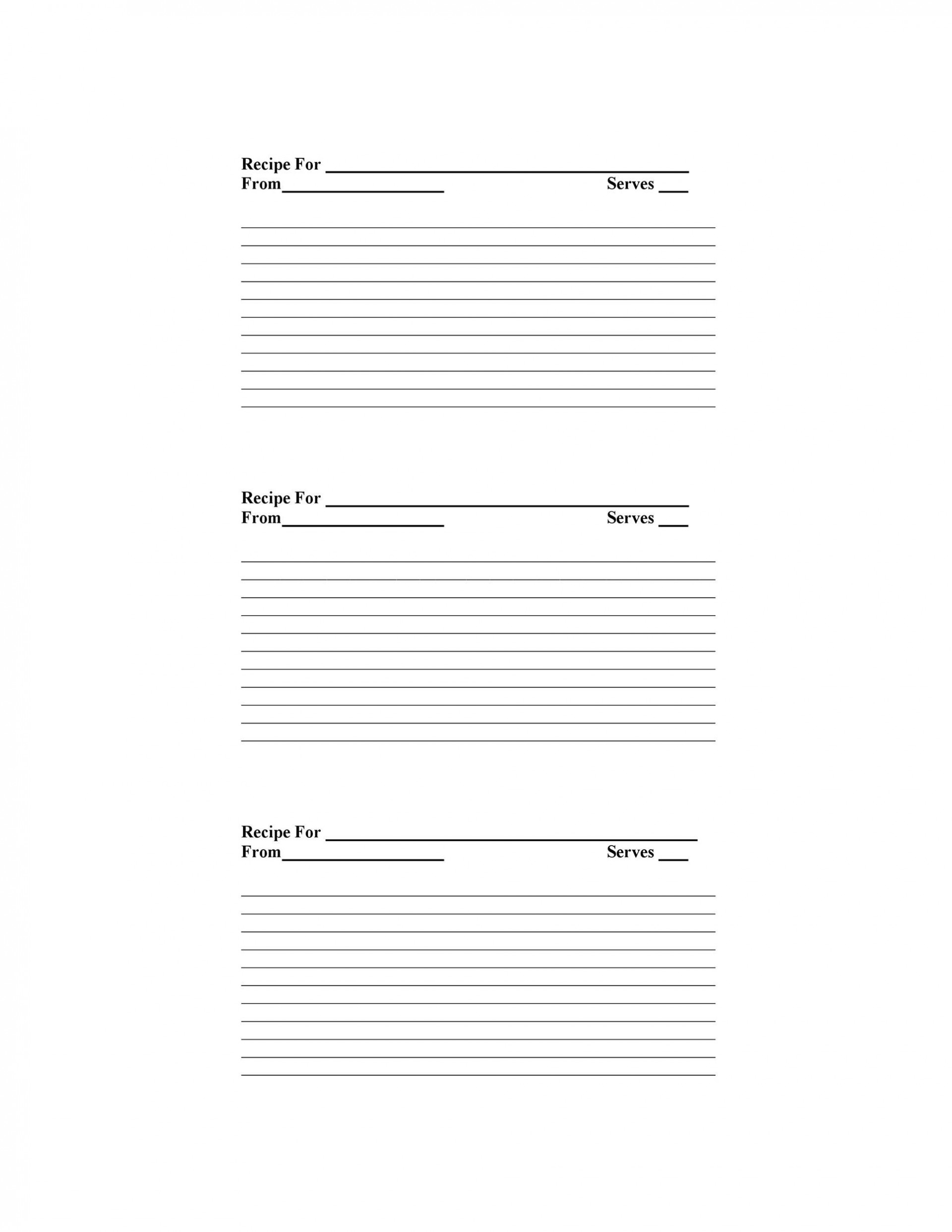 009 Unbelievable Free Recipe Template For Word High Def  Book Editable Card Microsoft 4x6 Page1920
