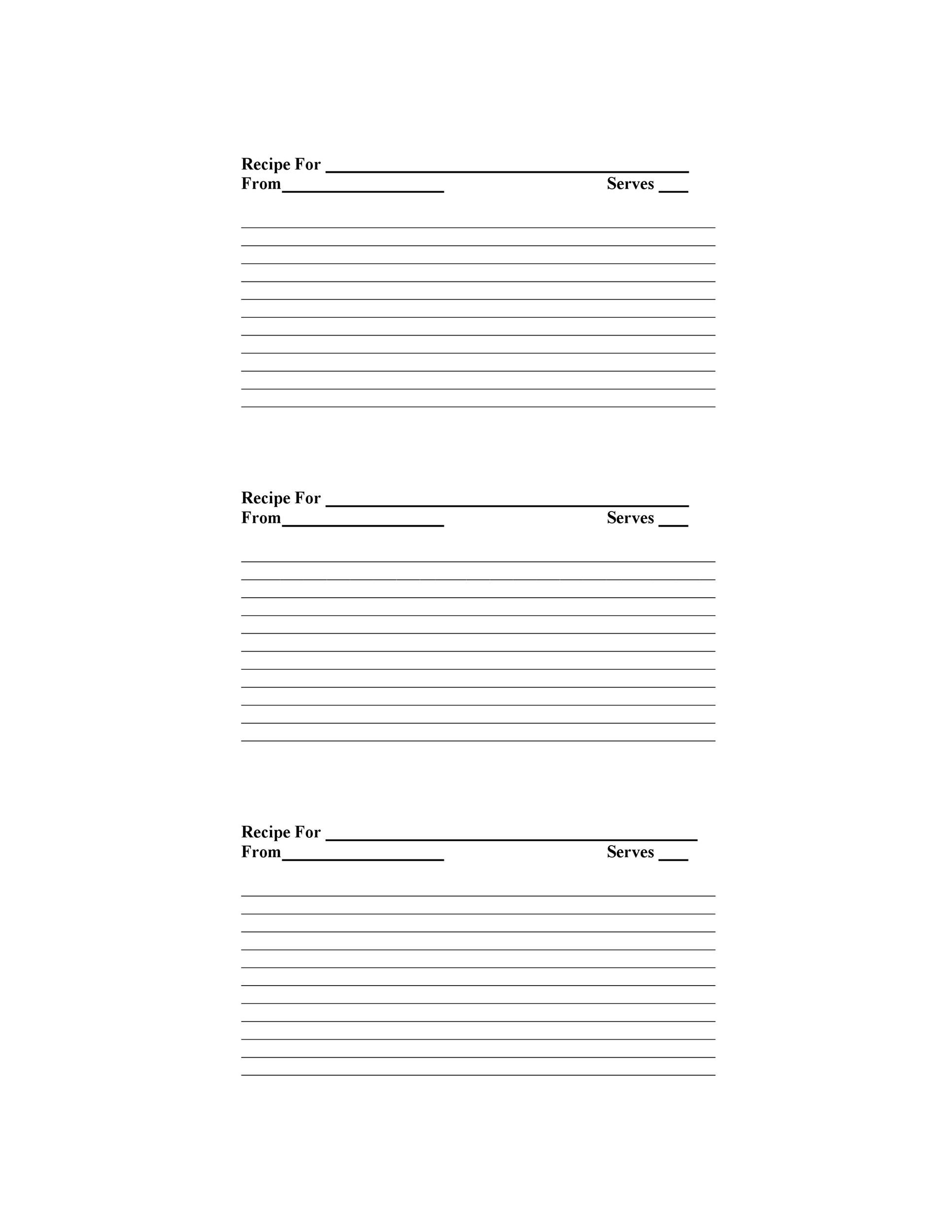 009 Unbelievable Free Recipe Template For Word High Def  Book Editable Card Microsoft 4x6 PageFull