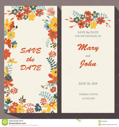 009 Unbelievable Free Save The Date Birthday Postcard Template Concept 480