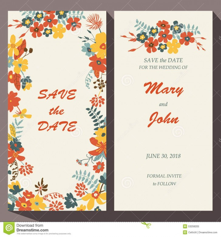 009 Unbelievable Free Save The Date Birthday Postcard Template Concept 728