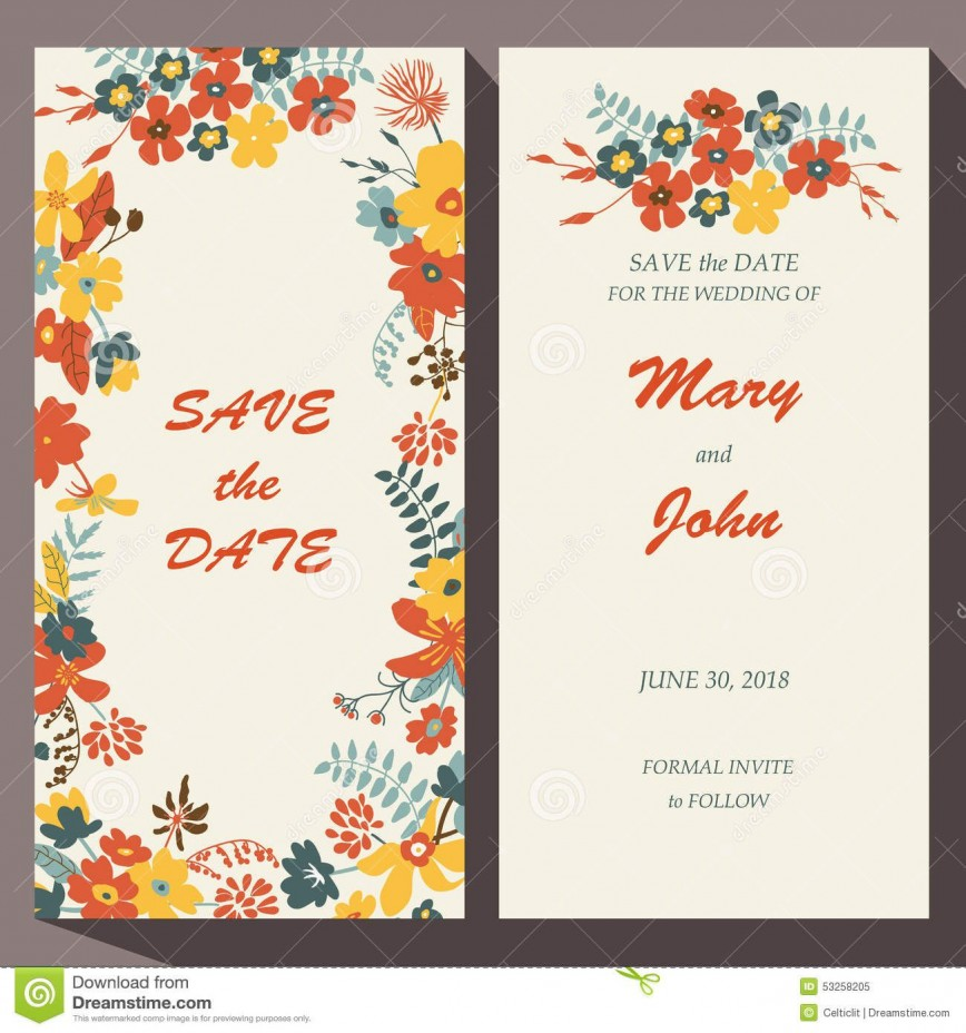 009 Unbelievable Free Save The Date Birthday Postcard Template Concept 868