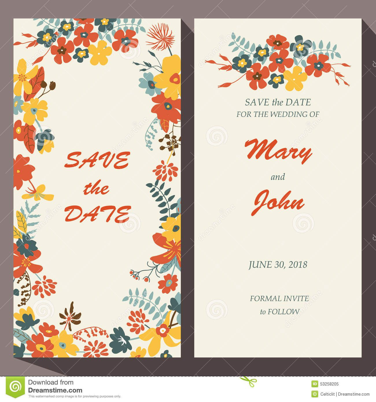 009 Unbelievable Free Save The Date Birthday Postcard Template Concept Full