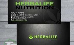 009 Unbelievable Herbalife Busines Card Template Photo  Download Free