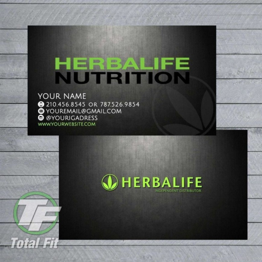 Herbalife Business Card Template Addictionary