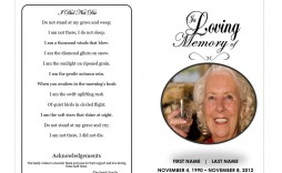 009 Unbelievable In Loving Memory Template Word Concept