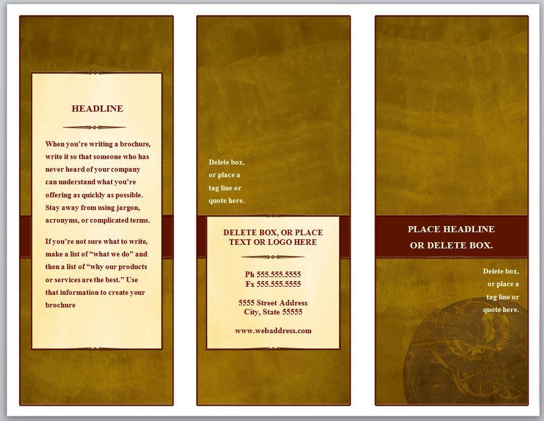 009 Unbelievable M Word Tri Fold Brochure Template Image  Microsoft Free DownloadFull