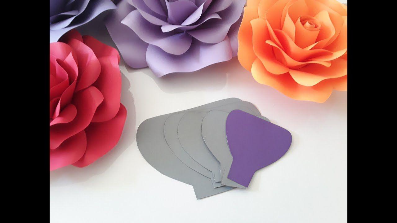 009 Unbelievable Paper Rose Template Pdf Sample  Flower Giant Free CrepeFull