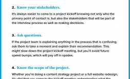 009 Unbelievable Project Team Kickoff Meeting Agenda Template Sample