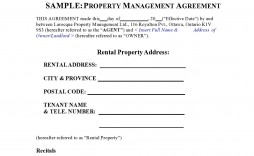009 Unbelievable Property Management Agreement Template Ontario Sample  Contract