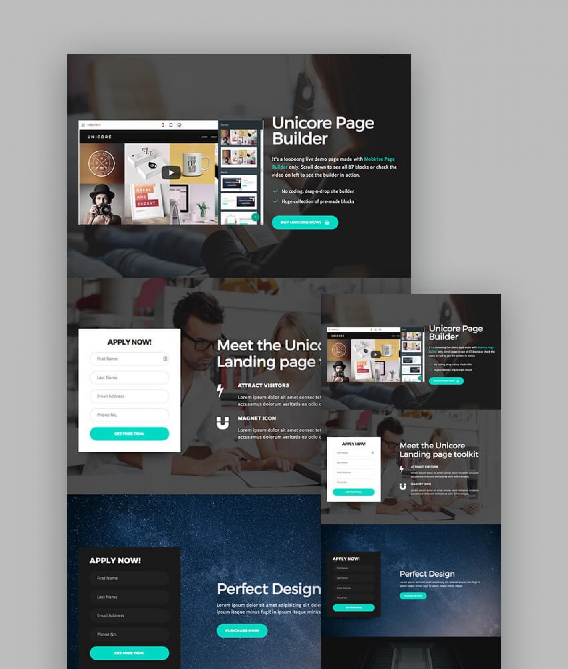 009 Unbelievable Responsive Landing Page Template Sample  Free Html With Flexbox Html51920
