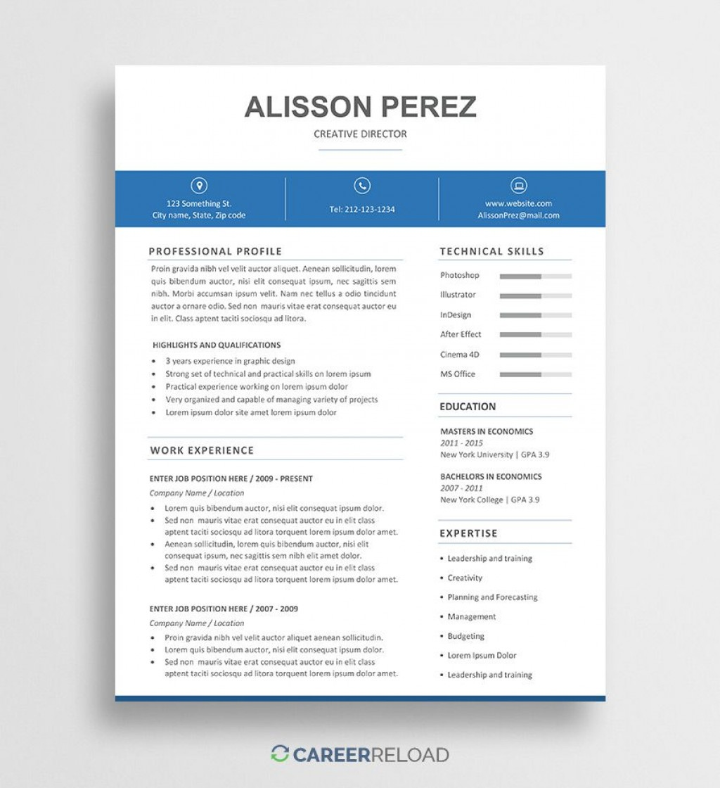 009 Unbelievable Resume Template Word Free Picture  Download India 2020Large