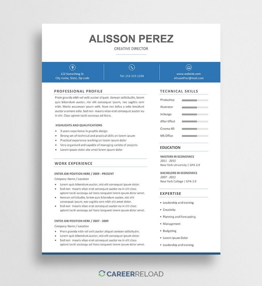 009 Unbelievable Resume Template Word Free Picture  Download 2020 Doc868
