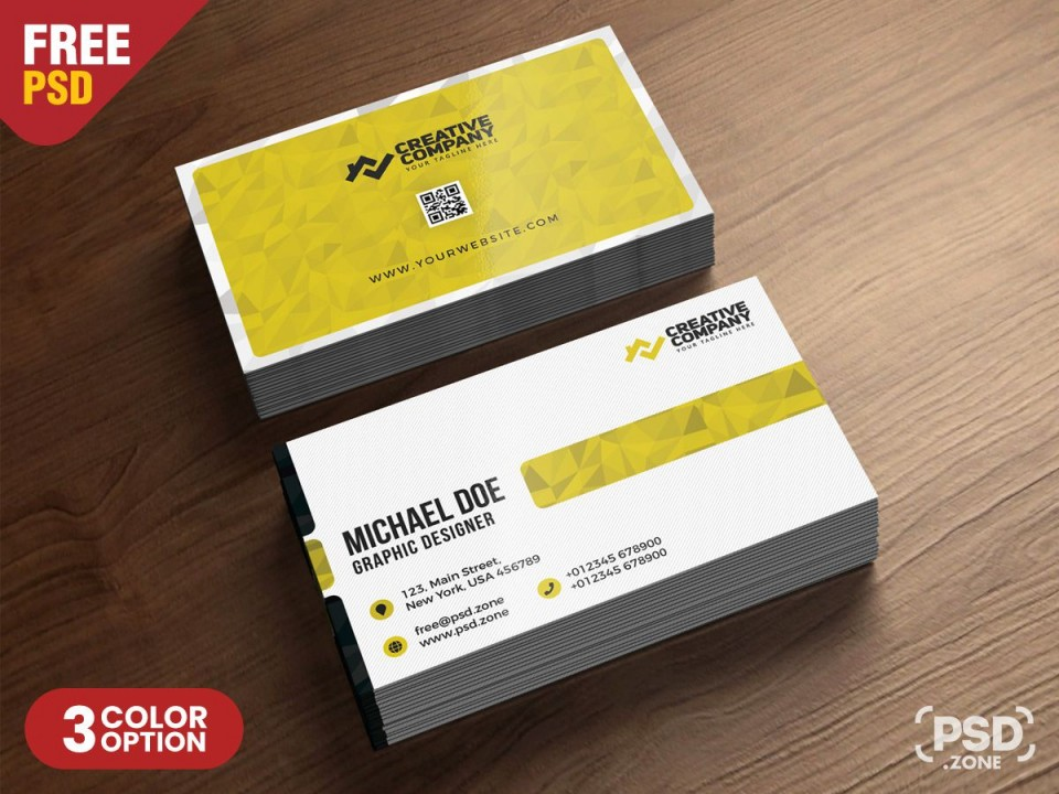 009 Unbelievable Simple Busines Card Template Psd High Definition  Design In Photoshop Minimalist Free960