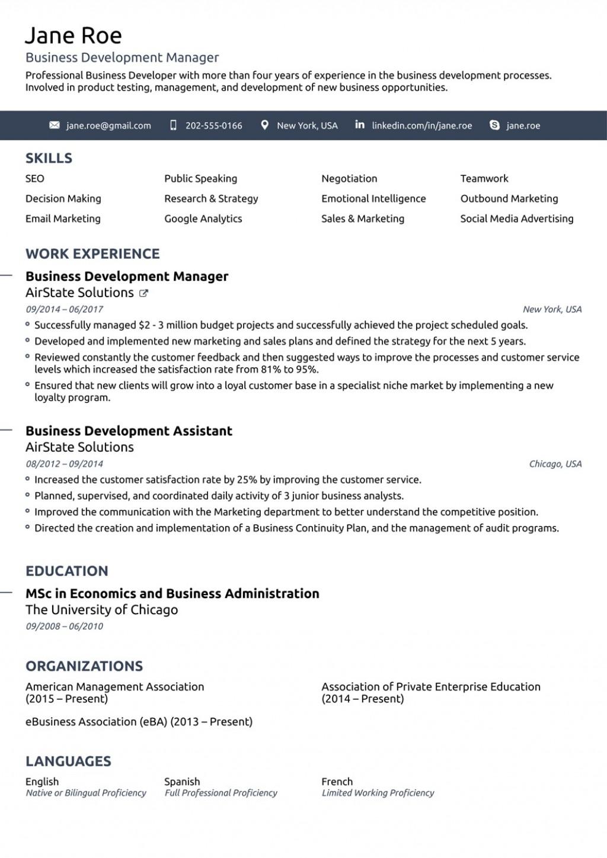 009 Unbelievable Simple Job Resume Template Concept  Download FirstLarge