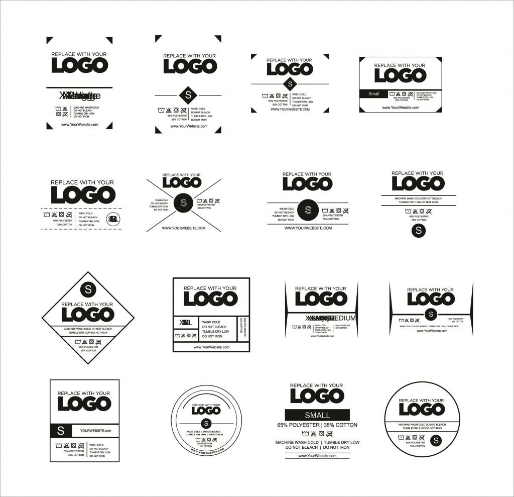 009 Unbelievable T Shirt Tag Template Idea  Neck LabelLarge