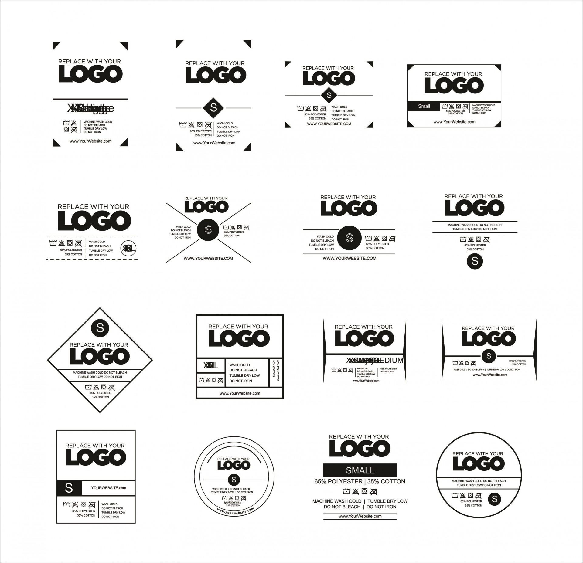 009 Unbelievable T Shirt Tag Template Idea  Neck Label1920