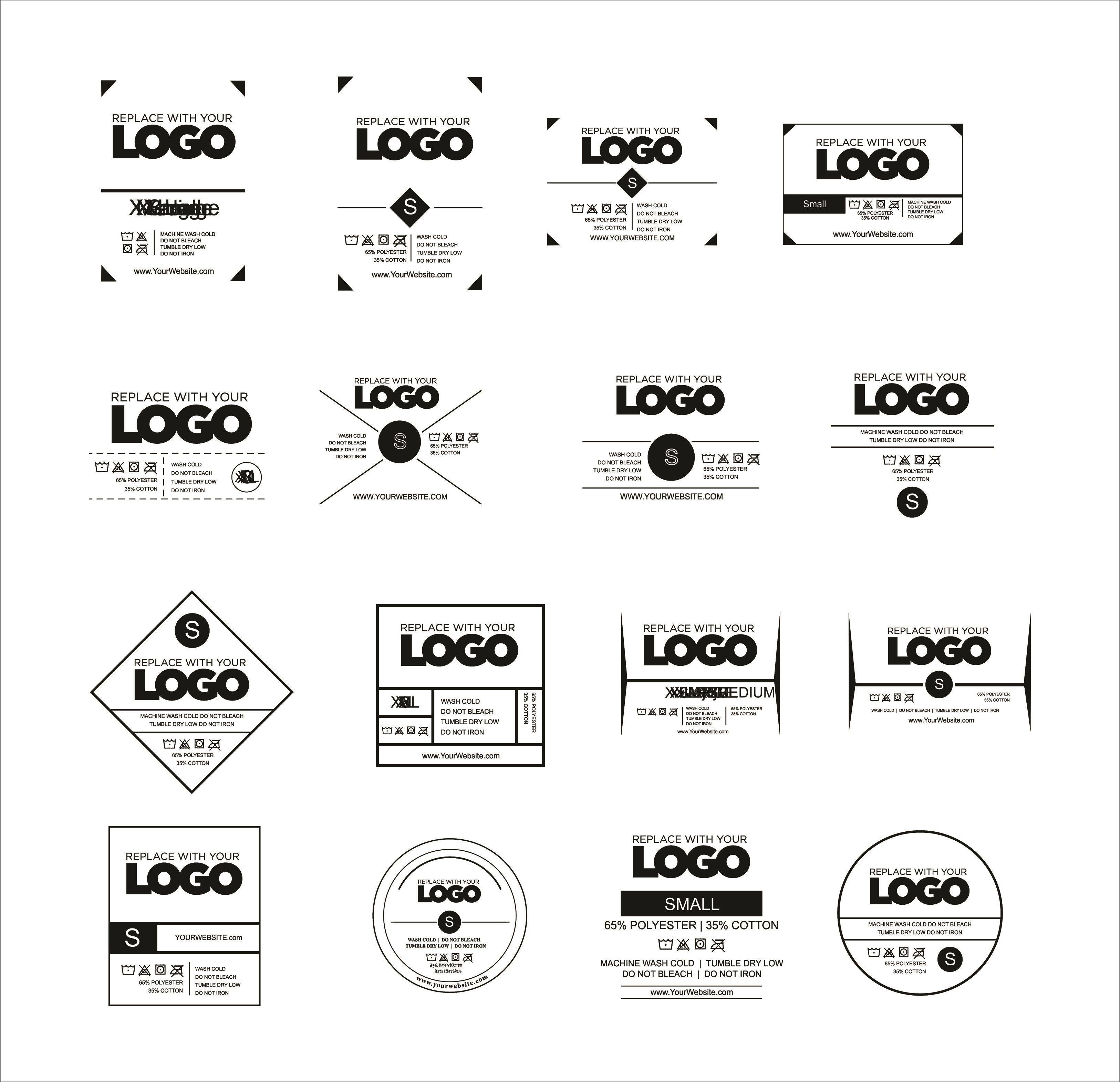 009 Unbelievable T Shirt Tag Template Idea  Neck LabelFull
