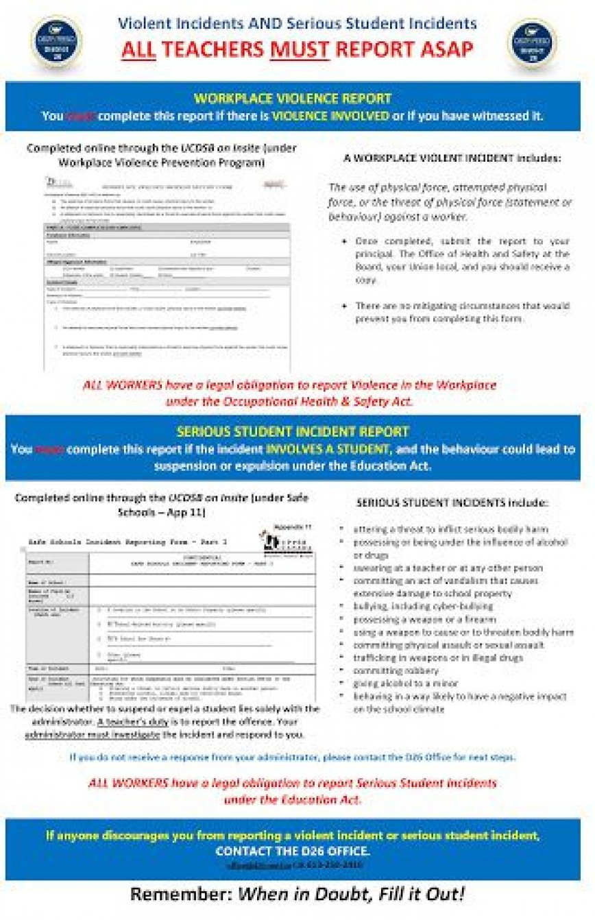 009 Unbelievable Workplace Violence Incident Report Form Ontario Highest Quality