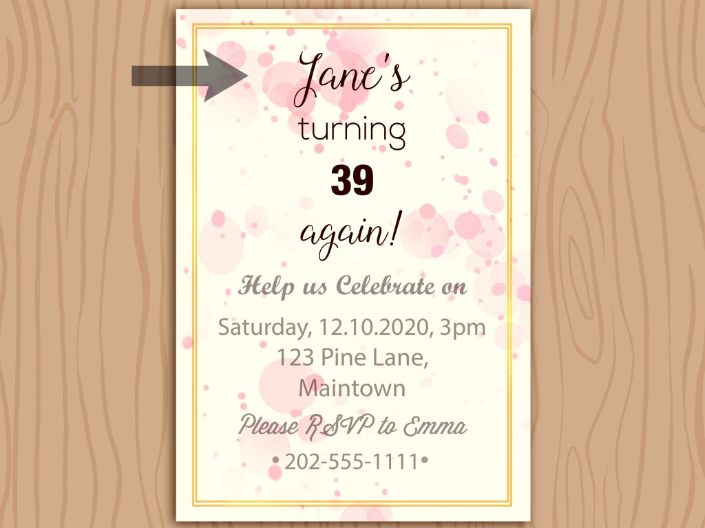 009 Unforgettable Birthday Invitation Wording Example Idea  Examples Party Invite BrunchLarge