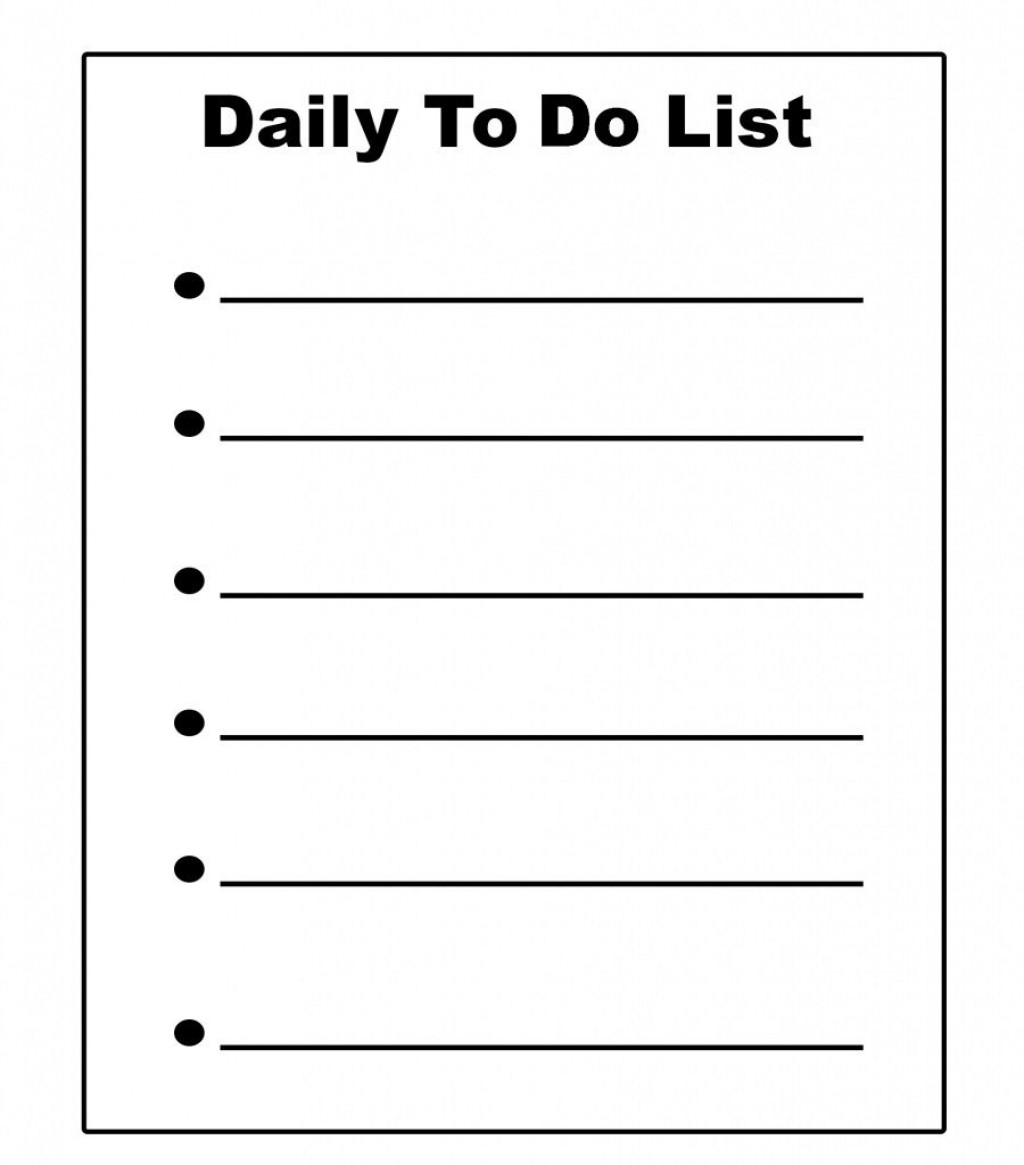 009 Unforgettable Daily To Do List Template Concept  Templates FreeLarge