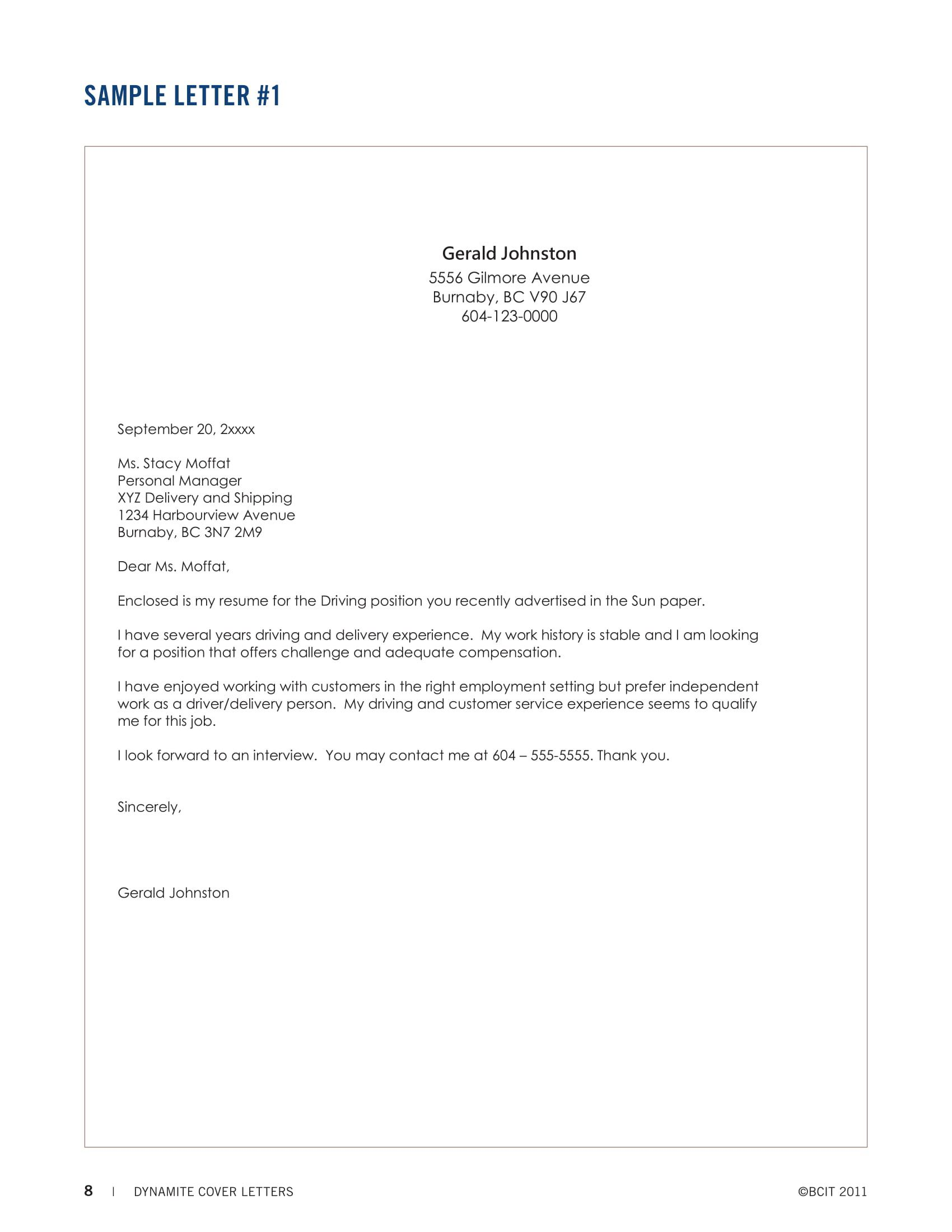 009 Unforgettable Download Resume Cover Letter Sample Free High Definition Full