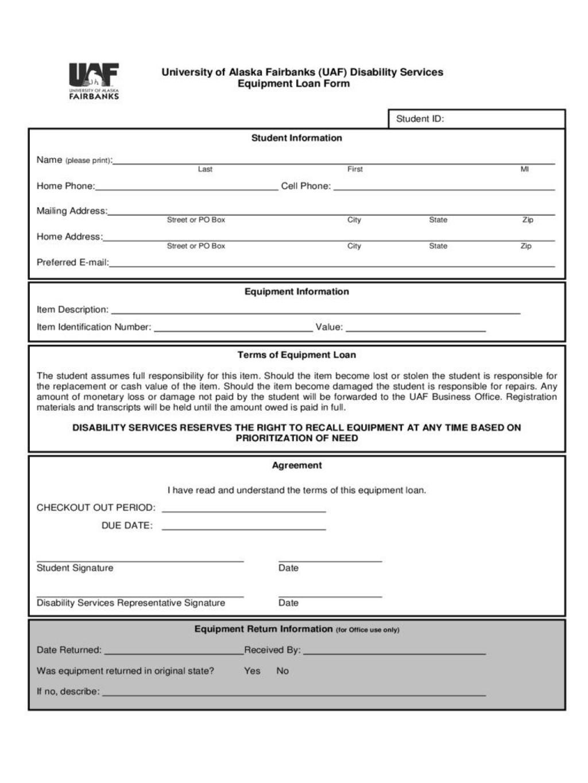 009 Unforgettable Equipment Loan Agreement Template High Def  Simple Uk Borrowing FreeLarge