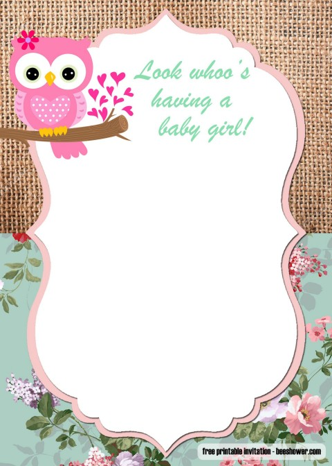 009 Unforgettable Free Baby Shower Invitation Template High Def  Printable For A Girl Microsoft Word480