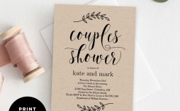 009 Unforgettable Free Couple Shower Invitation Template Download Sample  Downloads