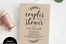 009 Unforgettable Free Couple Shower Invitation Template Download Sample