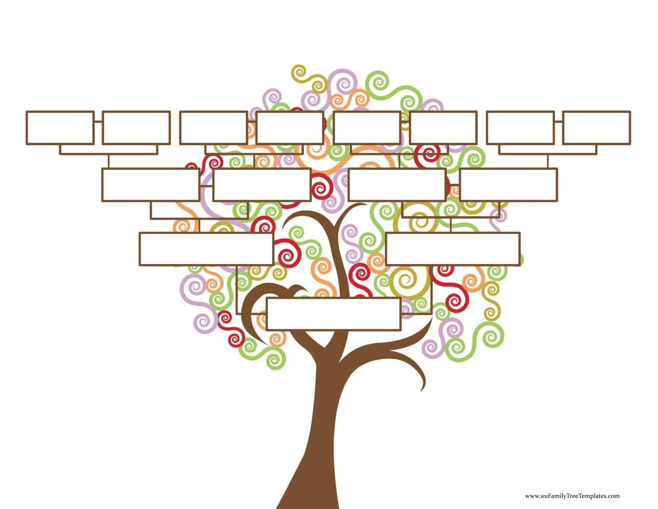 009 Unforgettable Free Editable Family Tree Template Image  Templates Pdf Powerpoint With PhotoFull