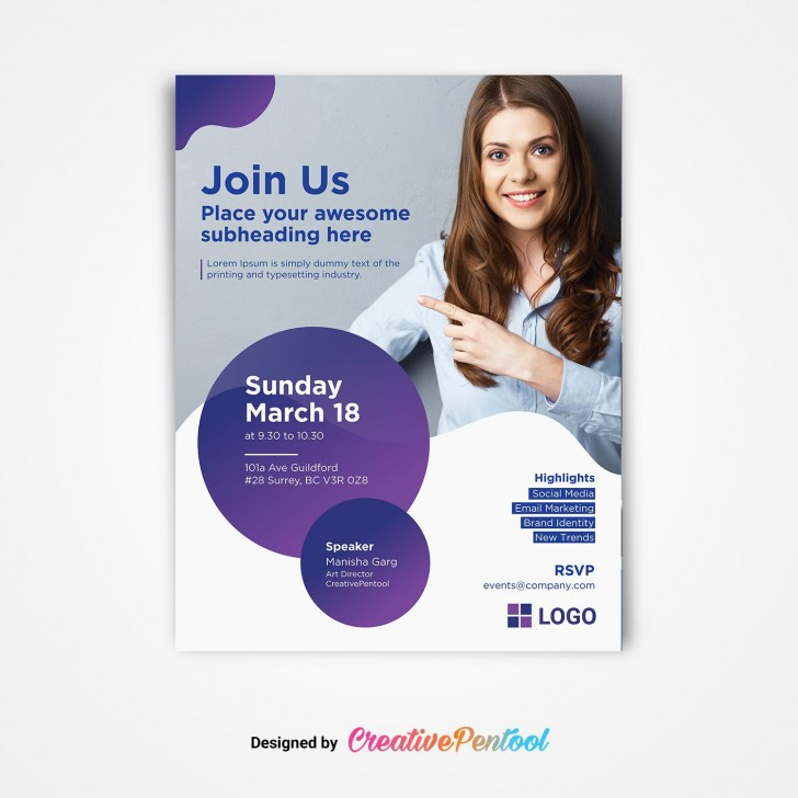 009 Unforgettable Free Event Flyer Template Photo  Printable Church Planning728