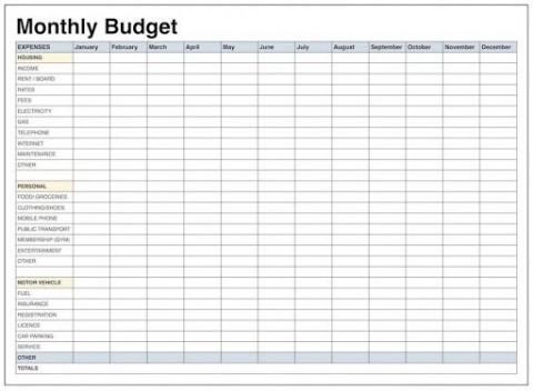 009 Unforgettable Free Simple Home Budget Template Picture 480