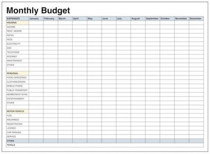 009 Unforgettable Free Simple Home Budget Template Picture 728