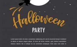 009 Unforgettable Halloween Party Invitation Template Sample  Microsoft Block October