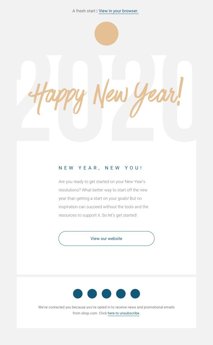 009 Unforgettable Holiday E Mail Template Sample  Templates Mailchimp EmailFull