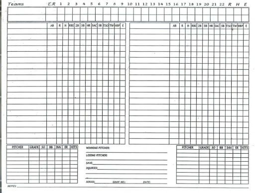 009 Unforgettable Little League Lineup Template Sample  Card Baseball Field FreeLarge