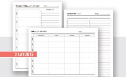 009 Unforgettable Meal Plan With Printable Grocery List Idea  Planning Template Excel Free