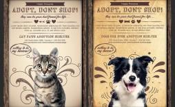 009 Unforgettable Pet Adoption Flyer Template High Resolution  Free Event Dog