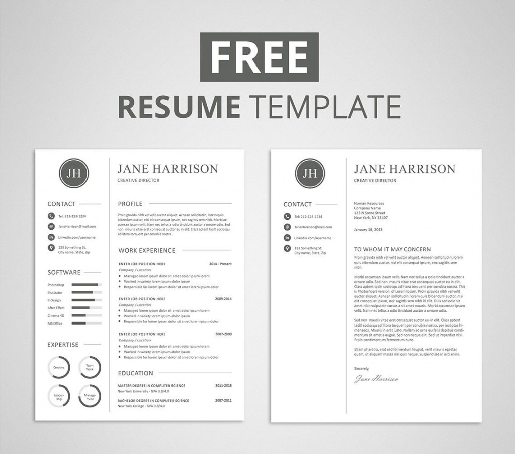009 Unforgettable Resume Cover Letter Template Free High Def  Simple Online MicrosoftLarge