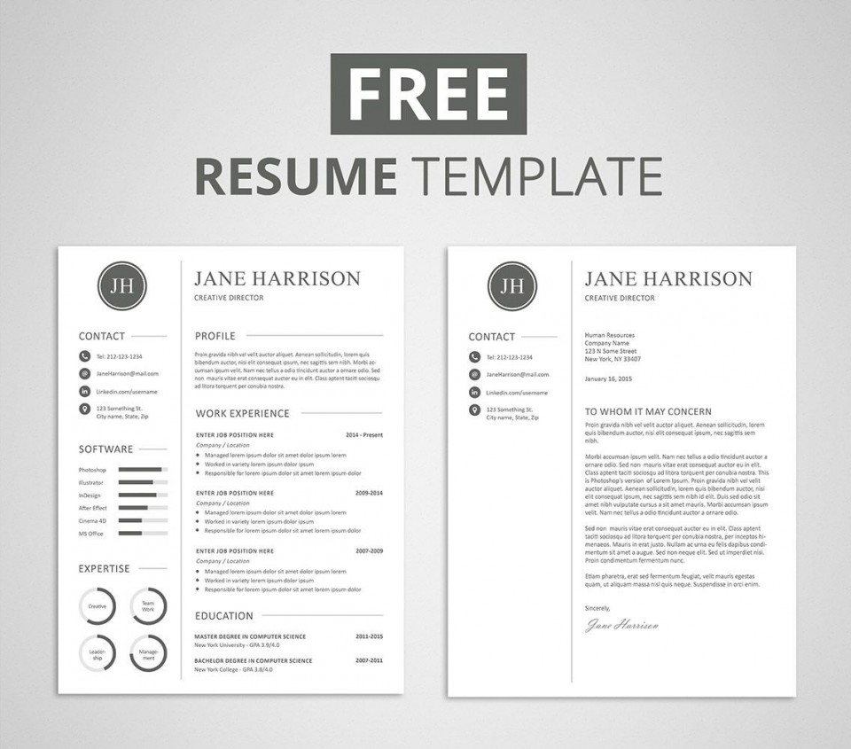 009 Unforgettable Resume Cover Letter Template Free High Def  Simple Online Microsoft960