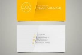 009 Unforgettable Simple Busines Card Template Free Idea  Minimalist Illustrator Design